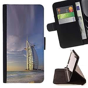 KingStore / Leather Etui en cuir / Sony Xperia Z1 L39 / Burj Dubai