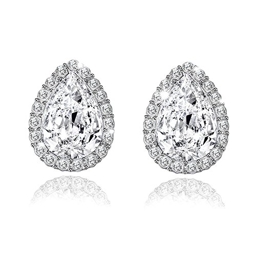 Wall of Dragon Wedding Jewelry Design Water Crystal Rhinestone Earrings Luxury Stud Earrings For Women Gift by Wall of Dragon