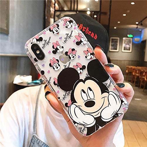 Maxlight Cute Cartoon Mickey Minnie Mouse Soft Clear Case Cover for iPhone Xs Max XR X Case for iPhone 8 7 Plus Pooh Silicone Case (Style 15, for iPhone Xs - Case Note Louis 2 Vuitton