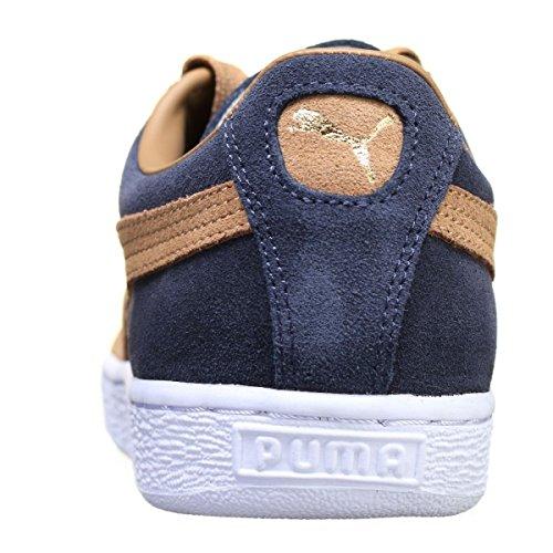 Puma Mens Suede Classic Low-Top Bleu Marine I3cV2