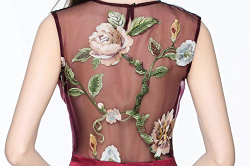 Gown Women's cotyledon Dresses Sleeveless Mermaid Green Prom Mesh Neck 4qESycUqZ
