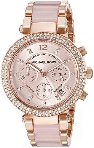 Michael Kors MK5896 – Reloj de cuarzo con correa de acero inoxidable para mujer, color rosa