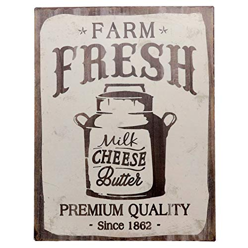 Barnyard Designs Farm Fresh Milk Cheese Butter Retro Vintage Tin Bar Sign Country Home Decor 10