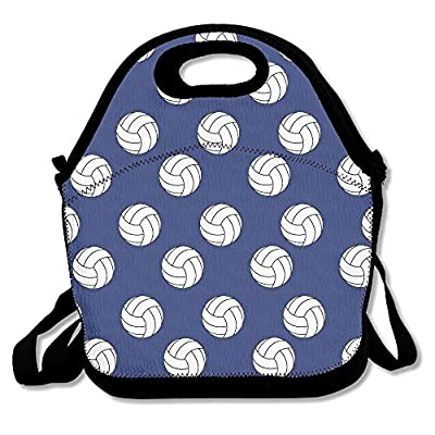 Funny Volleyball Lunch Tote Insulated Reusable Picnic Lunch Bags Boxes For Men Women Adults Kids Toddler Nurses