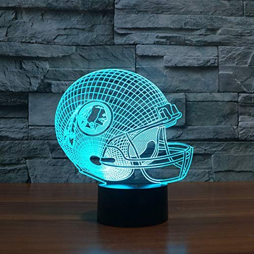 KUKULE 3D Led Oakland Raiders Football Team Head Cap Led Light Gift Furnitures