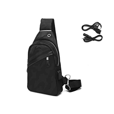 df54d43aa2c9 Funtor Sling Backpack, Anti Theft Crossbody Bag Casual Chest Shoulder  Bodypack Lightweight Waterproof Daypack with USB Charging Port for Men and  Women ...