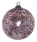 Friendship Ball Aubergine Web Design 4 Inch Kugel Iridized Witch Ball by Iron Art Glass Designs