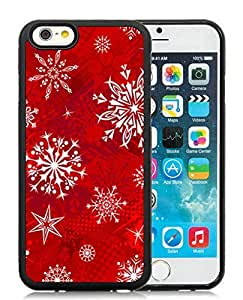 Provide Personalized Customized iPhone 6 Case,Christmas Snowflake Black iPhone 6 4.7 Inch TPU Case 11