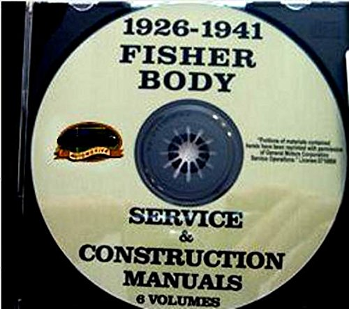 (BUICK FISHER BODY GM FACTORY REPAIR SHOP MANUAL on CD For Years 1926 1927 1928 1929 1930 1931 1932 1933 1934 1935 1936 1937 1938 1939 1940 1941 - INCLUDES Welding, Soldering, Hardware, Leaks, Locks, Deck, Pillars, Braces, Upholtery and much more)