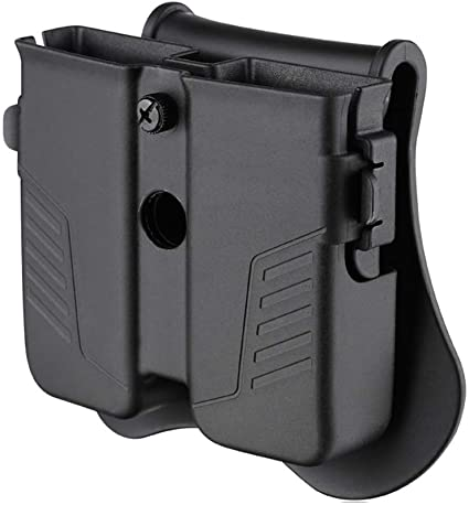 Double Stacked Magazine Pouch for 9mm//.40 cal//.357 Belt Mag Holster