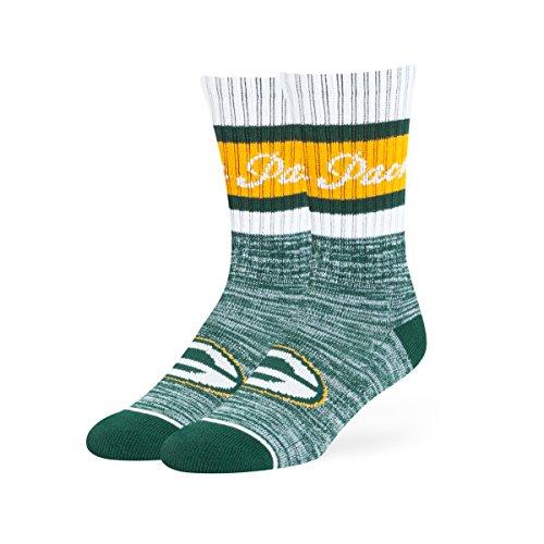 NFL Green Bay Packers Women's OTS Jensen Sport Sock, Dark Green, Medium