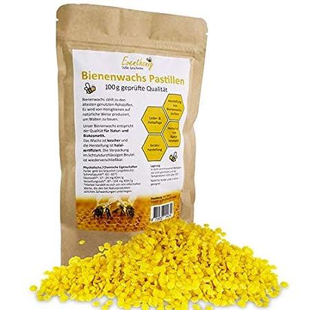 Eventhonig Pastiglie di Cera d'api Naturale, 100 g e 200 g di qualità cosmetica 100 g e 200 g di qualità cosmetica