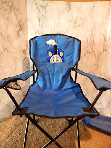 Personalized Blue Train Folding Chair (CHILD SIZE)