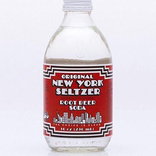 ORIGINAL NEW YORK SELTZER, Soda, Root Beer, Pack of 24, Size 10 FZ, (Dairy Free Gluten Free)
