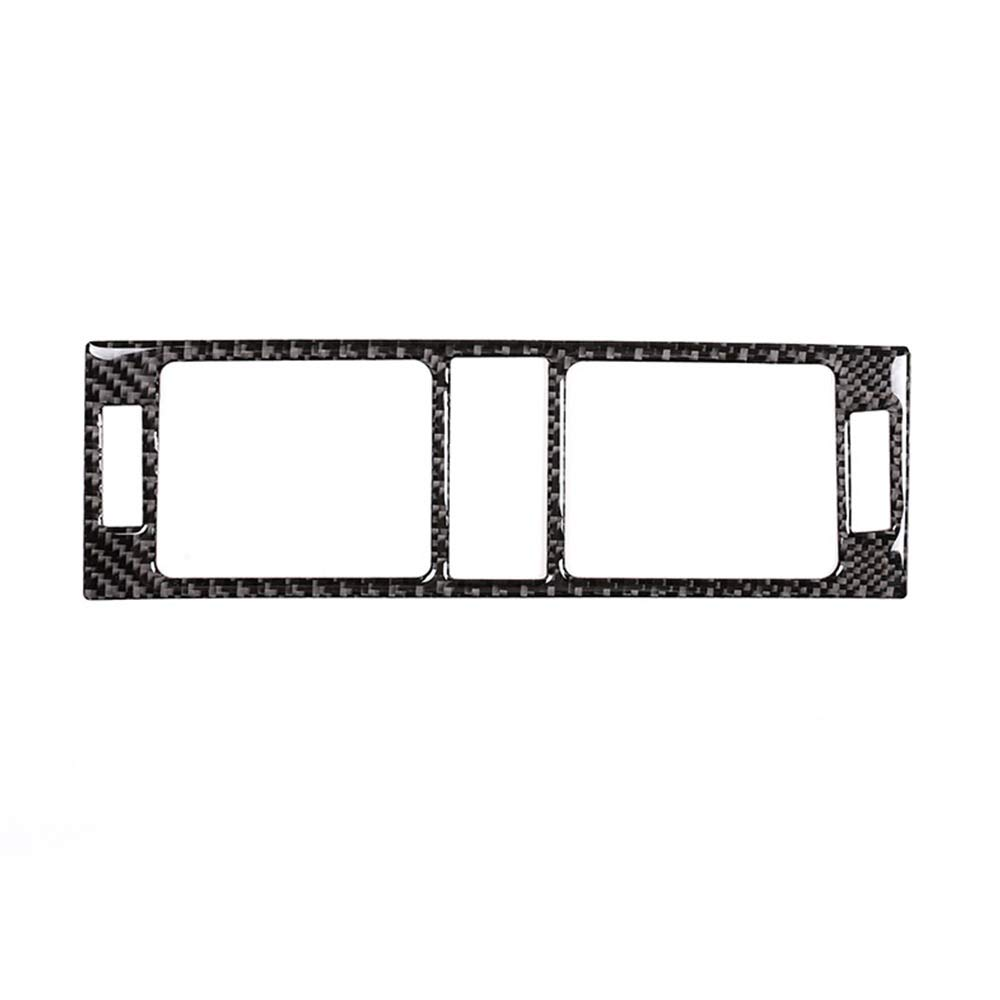 DIYUCAR Carbon Fiber Auto Center Air Conditioning Vent Frame Trim Sticker For Benz C Class W204 2007-2013