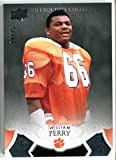 2011 UD Exquisite William Perry Card #6 Clemson Tigers Chicago Bears #/75