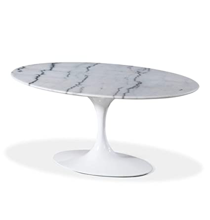 Amazoncom Tulip Oval Coffee Table Mid Century Kitchen Dining