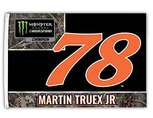 Nascar Red Number - Martin Truex Jr. #78 Monster Energy Nascar Cup Series 2017 Champion 3' x 5' One Sided Number Flag