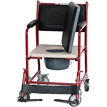 Commode FS691 with Detachable Arm and Foot Rest
