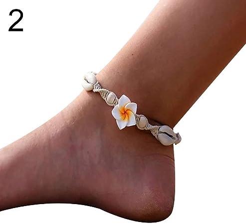 bracelet coquillage cheville