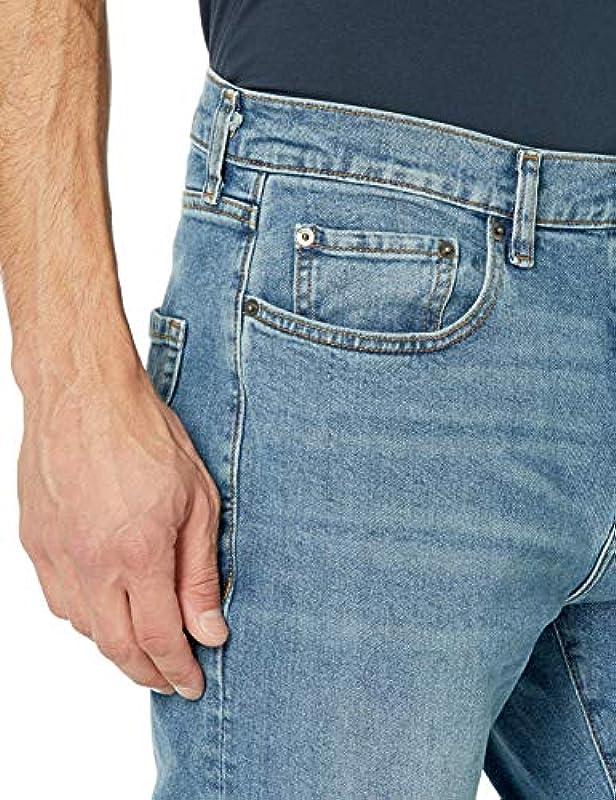 Amazon Essentials Męskie dżinsy ze stretchu, sportowy krÓj: Odzież