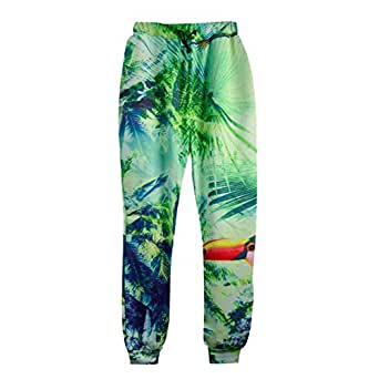 Cool joggers Print Floral Flower sport sweatpants for men/women hip hop trousers (M)