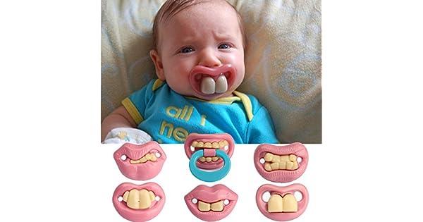 Amazon.com: Rosa Lizard Fashion Funny Baby Dummy chupetes ...