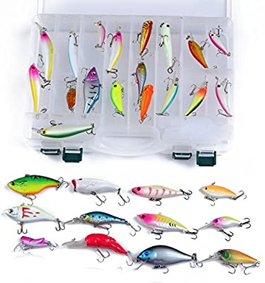 Fishing Lure Assort 20/30/50pcs!!! Tackle Crank-baits Minnow Baits Hooks/sea Bass/black Sea Dream/for Sea,shore Incl.special BOX