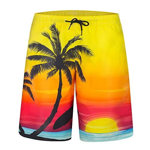 (ZHPUAT Men's Swim Trunks Quick Dry Beachwear Holiday Board Shorts Bathing)