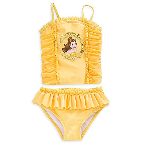 Disney Belle Swimsuit For Girls   2 Piece Size 5 6 Yellow