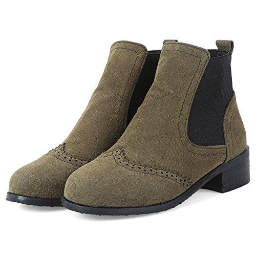 TAOFFEN TAOFFEN Boots Women's Women's Booties Green HqnUwSdR