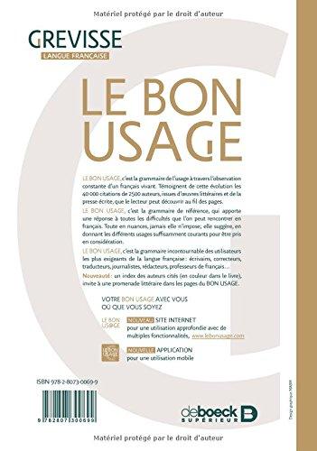 BON GREVISSE GRATUITEMENT DE LE USAGE TÉLÉCHARGER