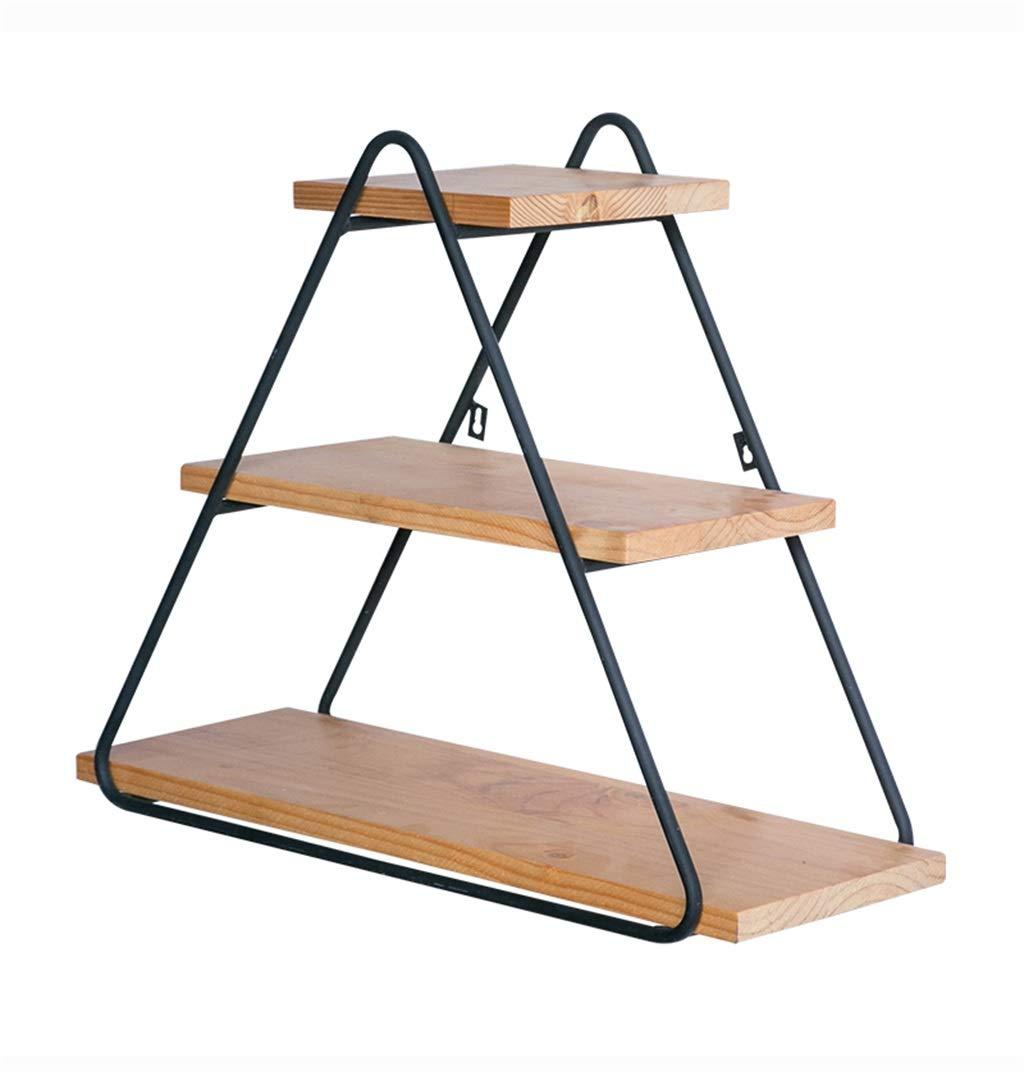 Regale&Ablagen Wohnkultur Leiste Dreieck Rack Einfache Schmiedeeiserne Holzwand Lagerregal Präsentationsständer Kreative Dekoration