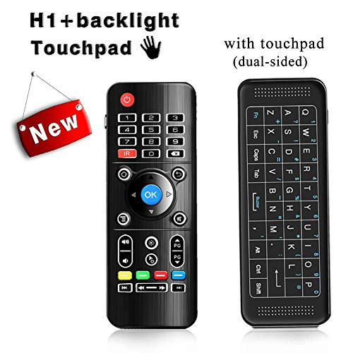 Backlit AirMouse, Penkou H1 Mini Gaming Keyboard 2.4GHz Portable Wireless Keyboard with touchpad Remote Control for Smart TV, Android TV Box, PC, HTPC, IPTV, Media Player