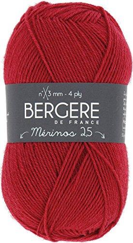 Bergere De France Merinos 2.5 Yarn-Rouge Bebe (Yarn Rouge)