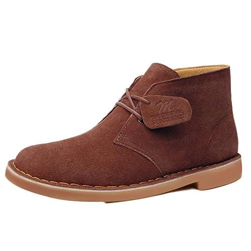 Botas De Invierno para Hombre Botas Chelsea De Gamuza Clásica Desert Lace Up Botines Cálidos: Amazon.es: Zapatos y complementos