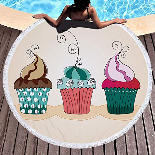 OrchidAmor 1 PC Round Beach Pool Home Shower Towel Blanket Table Cloth Yoga Mat 2019