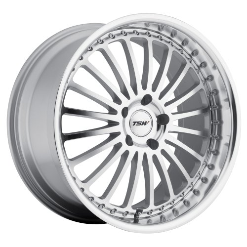 TSW Silverstone Silver Wheel with Machined Lip (22x9