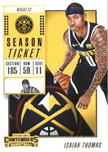 58c264d43ed3 Amazon.com  2018-19 NBA Contenders Season Ticket  36 Isaiah Thomas Denver  Nuggets Official Basketball Card made by Panini  Collectibles   Fine Art