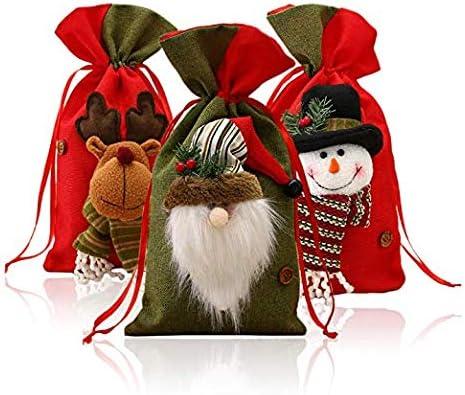 SONGET portátil 3 Pack Navidad Papá Noel Dulces Funda, Papá Noel ...