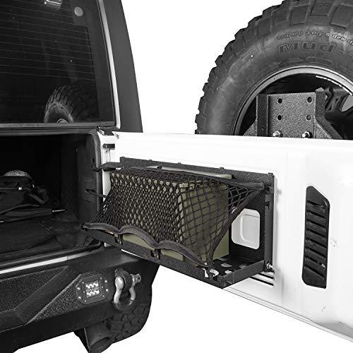 Hooke Road Tailgate Storage Back Door Organizer Table Bracket w/Ammo Storage Can for Jeep Wrangler JK 07-18