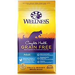 Wellness Complete Health Natural Grain Free Dry Cat Food, Adult Health Deboned Chicken & Chicken Meal Recipe, 5.5-Pound Bag