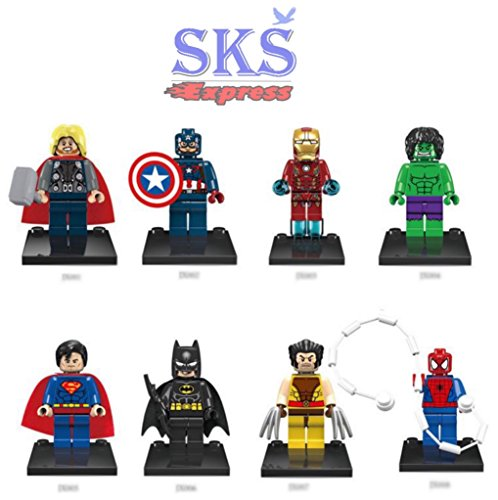 8pcs/set Avengers Marvel DC Super Heroes Series Minifigures Building Toys Compatible With Lego by SKS® Express