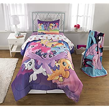 Great My Little Pony Movie (2017) 6pc Twin Comforter And Sheet Set Bedding  Collection