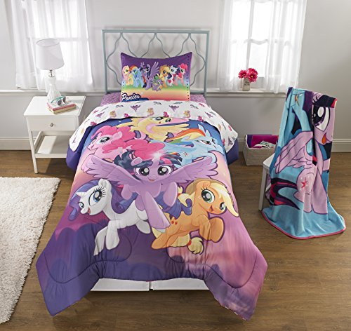 My Little Pony Movie (2017) 6pc Twin Comforter and Sheet Set Bedding Collection by My Little Pony