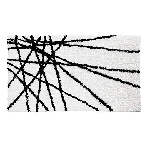 InterDesign Abstract Bath Mat, Machine Washable Microfiber Accent Rug for Bathroom, Kitchen, Bedroom, Office, Kid's Room 34