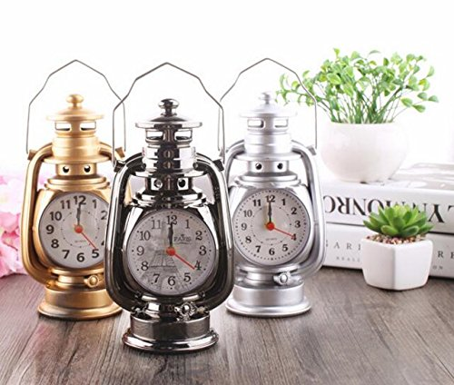 Heylookhere Quiet and Practical Vintage Model Ornament Alarm Clock for Kids Children Students (Random)