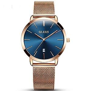 OLEVS Quartz Ladies Watch Ultra Thin Stainless Steel Rose Gold Female Watches Sport Clock Women Wristwatches