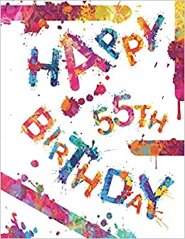 Happy 55th Birthday Cool Book To Use As Notebook Personal Journal