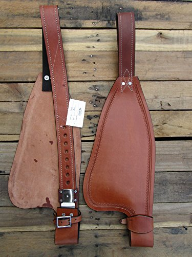 REPLACEMENT HORSE WESTERN SADDLE SMOOTH LEATHER FENDER STIRRUP HOBBLE STRAP TRAIL PLEASURE TACK (Trail Pleasure Tack Saddle)